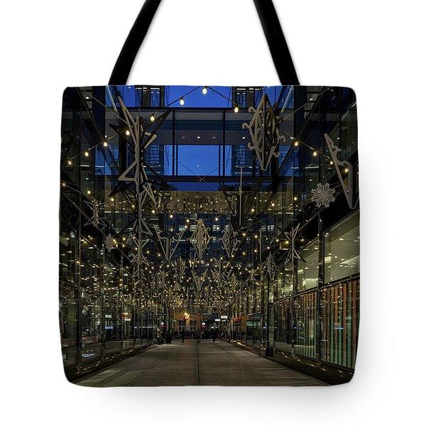 Downtown Christmas Decorations - Washington Tote Bag