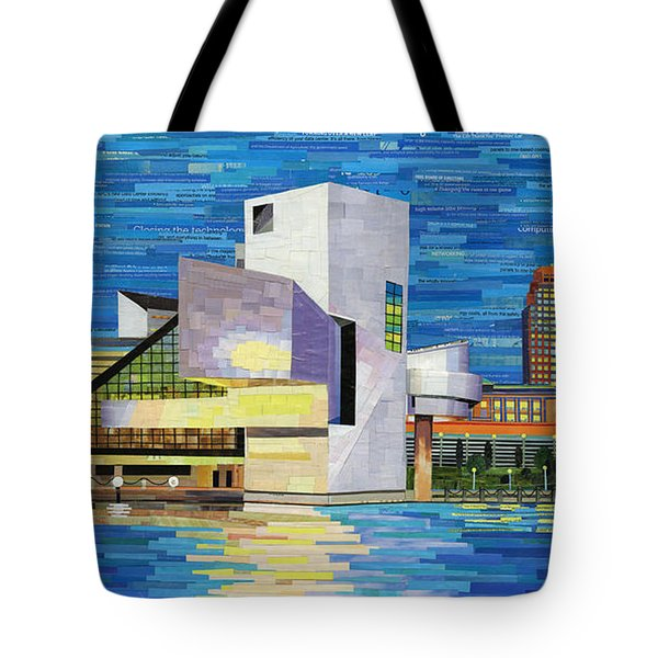 Downtown Cleveland Skyline  Tote Bag by Shawna Rowe