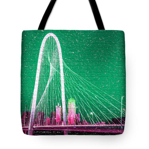Downtown Dallas Graffiti Tote Bag