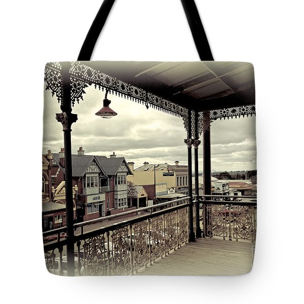 Tote Bag featuring the photograph Downtown Daylesford II by Chris Armytage
