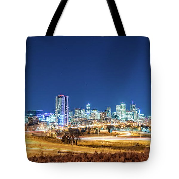 Downtown Denver Under The Stars Tote Bag