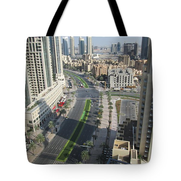 Tote Bag featuring the photograph Downtown Dubai by Marie Neder