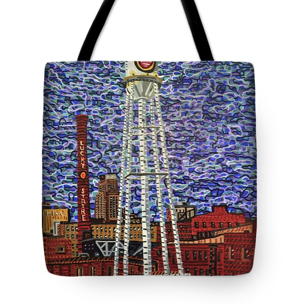 Downtown Durham Tote Bag by Micah Mullen