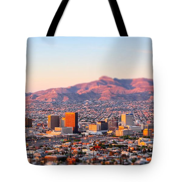 Downtown El Paso Sunrise Tote Bag