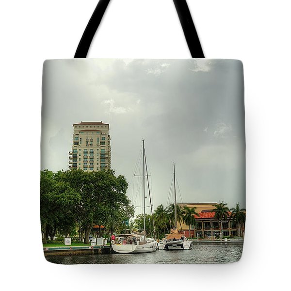 downtown Ft Lauderdale waterfront Tote Bag