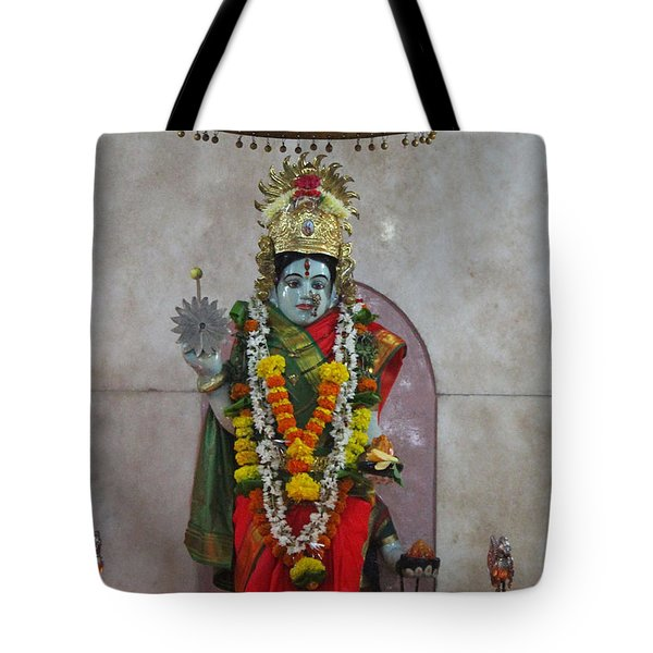 Downtown Ganeshpuri Durga Temple Tote Bag
