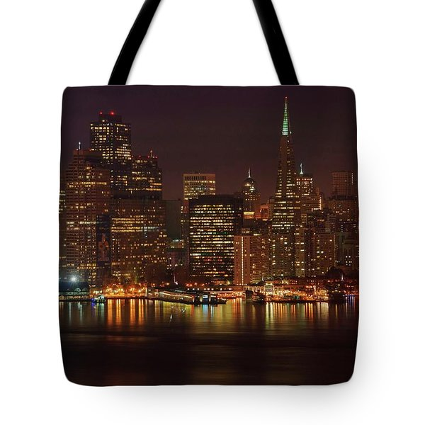 Downtown Gotham City Tote Bag