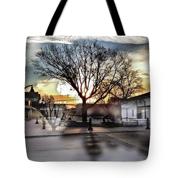 Downtown Hdr Atchison Tote Bag by Dustin Soph