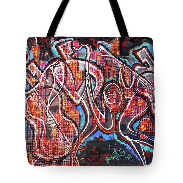 Downtown Jazz Blues Tote Bag