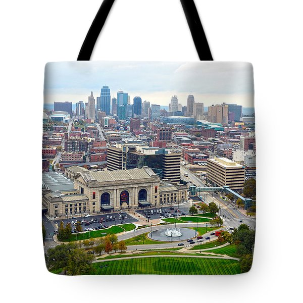 Downtown Kansas City From Liberty Memorial Tower Tote Bag