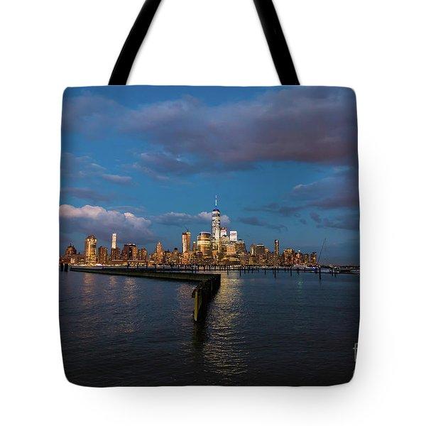 Downtown Manhattan Tote Bag