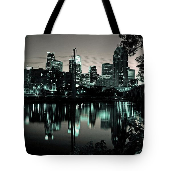 Downtown Minneapolis At Night II Tote Bag
