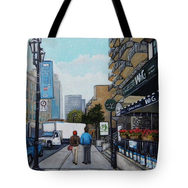 Downtown Montreal Tote Bag