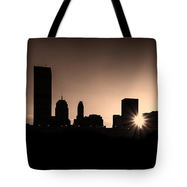 Tote Bag featuring the photograph Downtown Oklahoma City by Betty LaRue