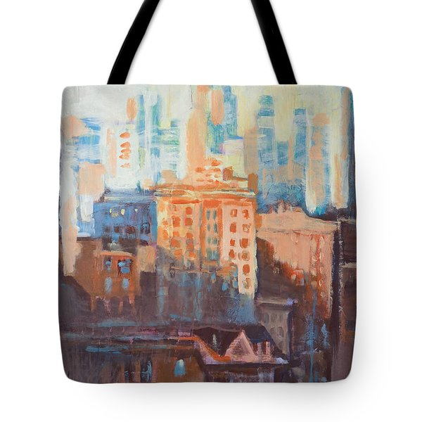 Downtown Old And New Tote Bag