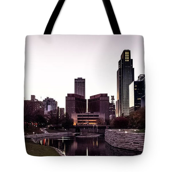 Downtown Omaha At Sunset Tote Bag