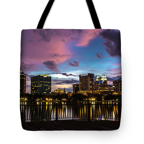 Downtown Orlando Tote Bag