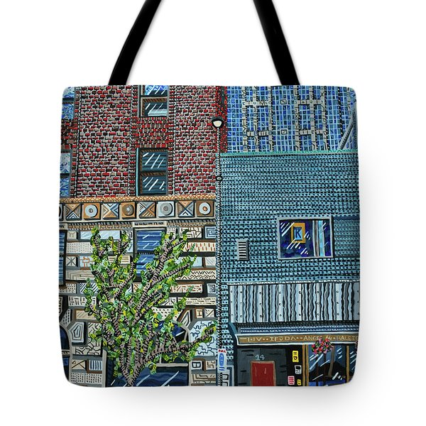 Downtown Raleigh - West Martin Street Tote Bag by Micah Mullen