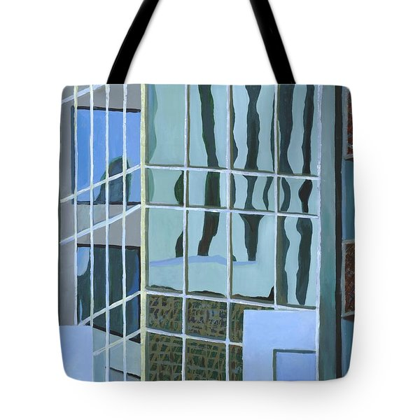 Downtown Reflections Tote Bag by Alika Kumar