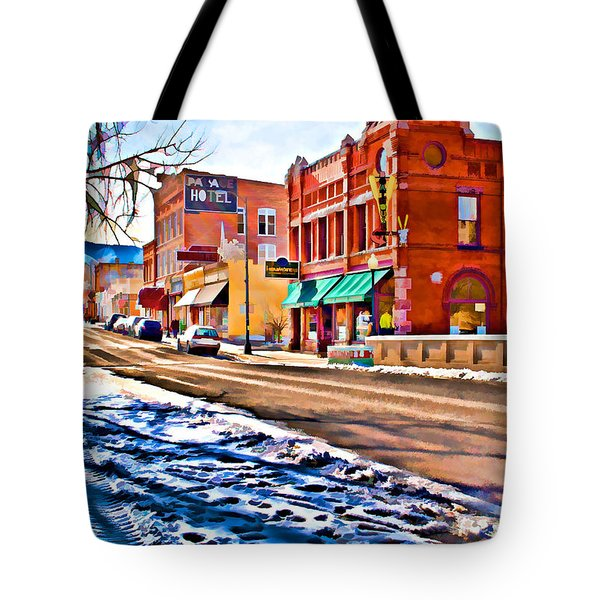 Downtown Salida Hotels Tote Bag