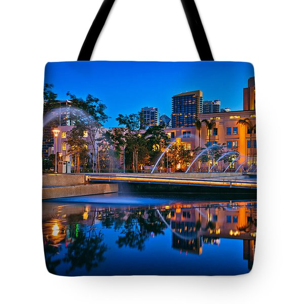 Downtown San Diego Waterfront Park Tote Bag by Sam Antonio Photography