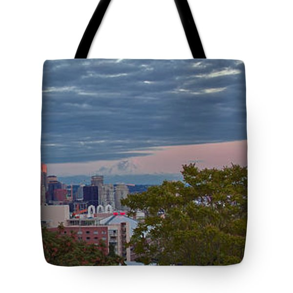 Downtown Seattle At Dusk Tote Bag