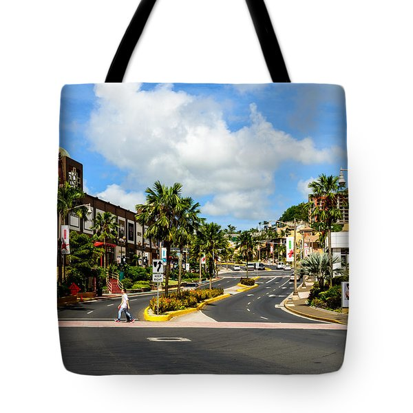 Downtown Tamuning Guam Tote Bag