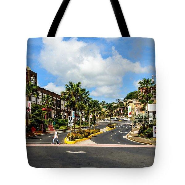 Downtown Tamuning Guam Tote Bag