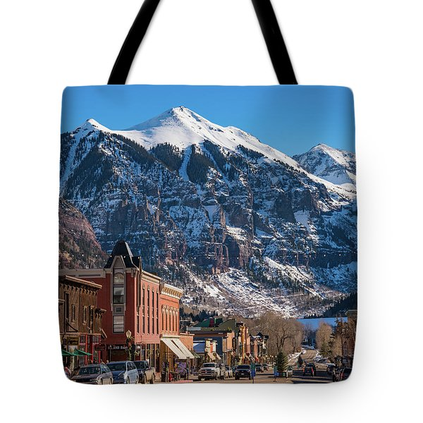 Downtown Telluride Tote Bag by Darren White