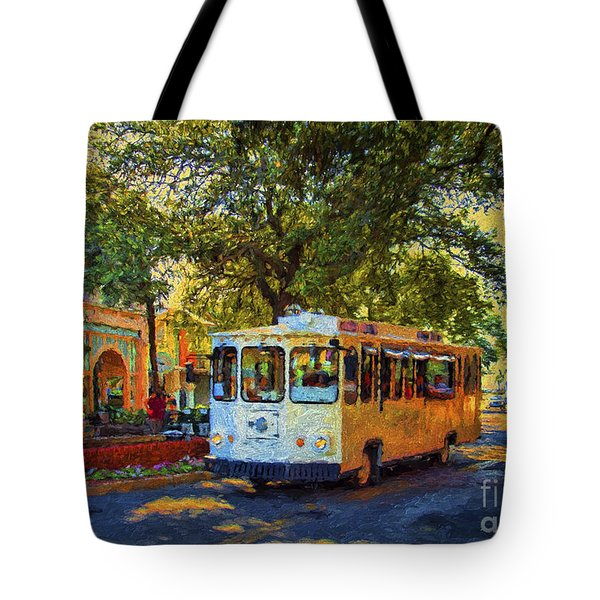 Downtown Trolley Tote Bag