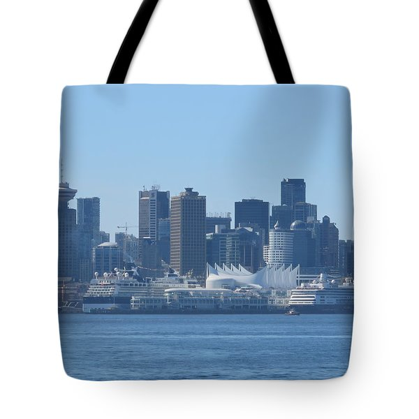 Downtown View From North Vancouver Tote Bag