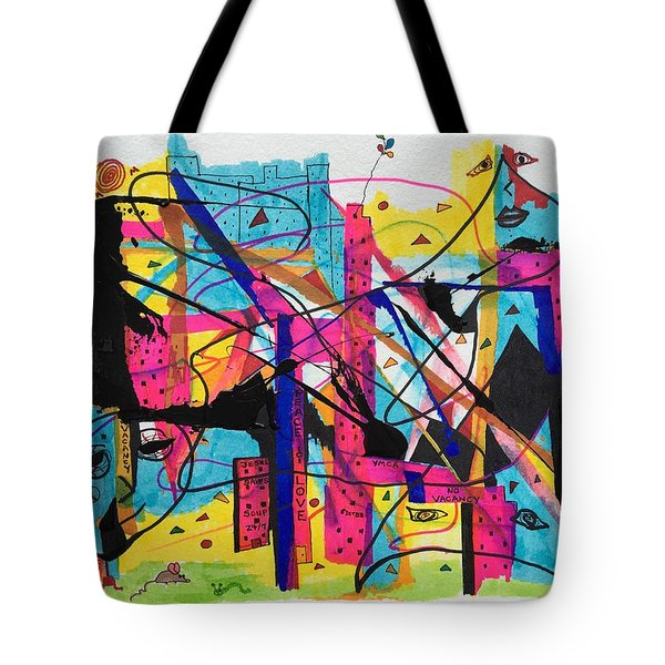Downtown --where All The Lights Are Bright Tote Bag