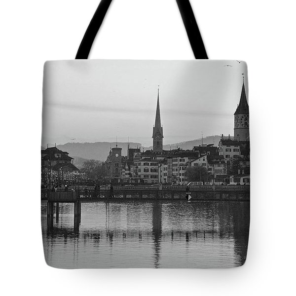 Downtown Zurich Tote Bag