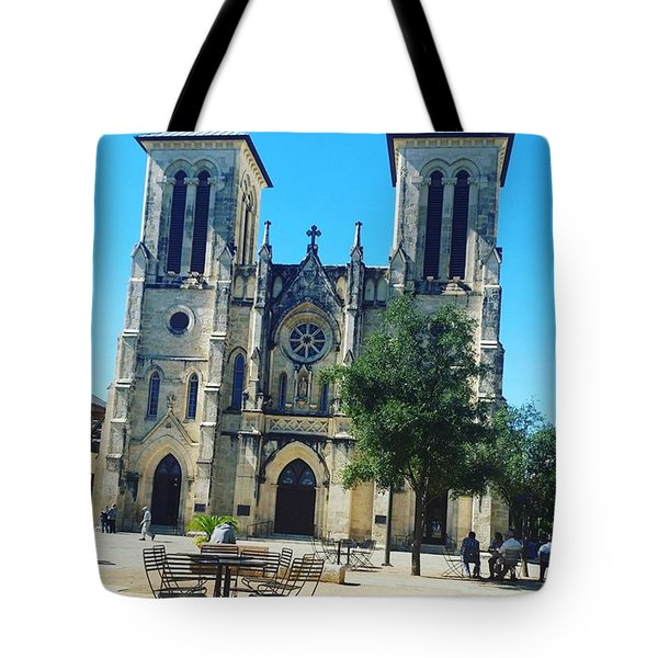 Cathedral Of San Fernando Tote Bag