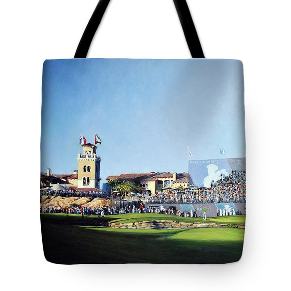 Dp World Tour Championship 2015 - Open Edition Tote Bag by Mark Robinson
