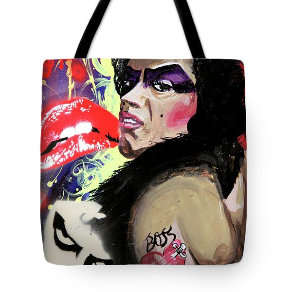 Tote Bag featuring the painting Dr. Frank N. Furter by eVol i