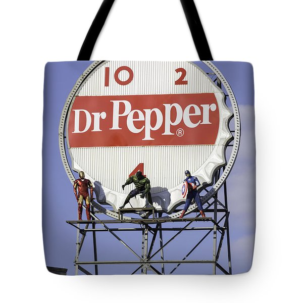 Dr Pepper And The Avengers Tote Bag