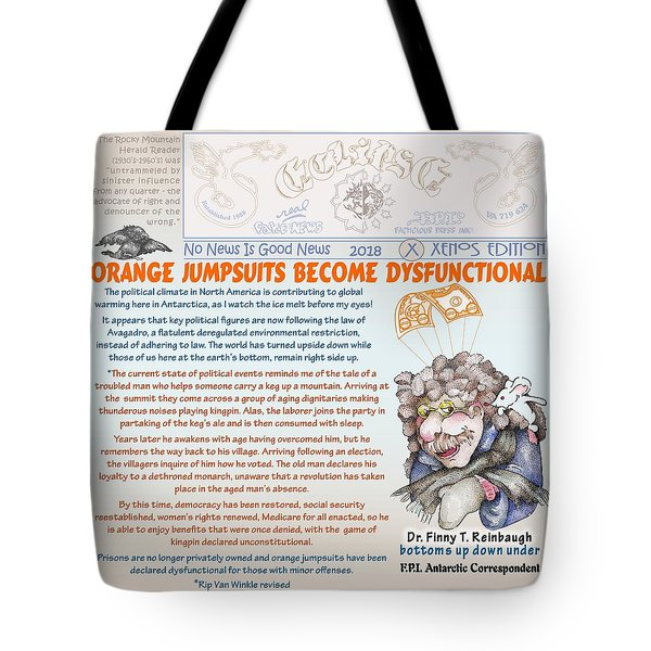 Real Fake News Antarctic Correspondent 1 Tote Bag