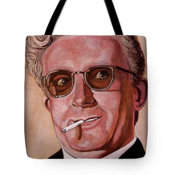 Tote Bag featuring the painting Dr Strangelove 2 by Tom Roderick