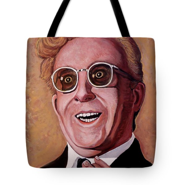 Tote Bag featuring the painting Dr. Strangelove 3 by Tom Roderick