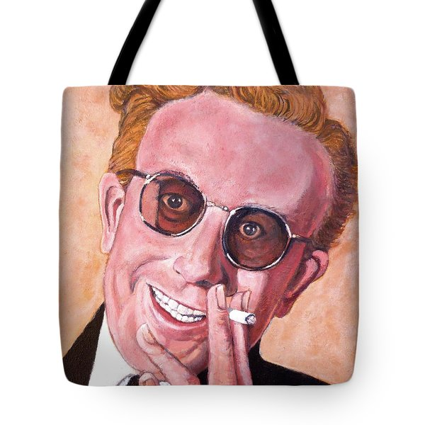 Tote Bag featuring the painting Dr Strangelove  by Tom Roderick