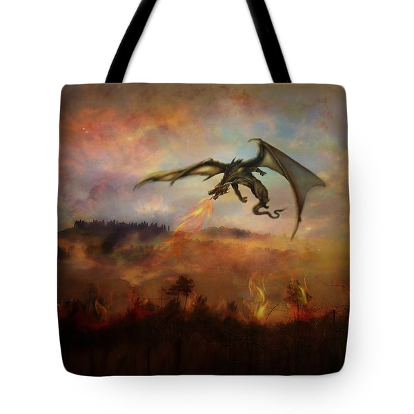 Dracarys Tote Bag by Lilia D