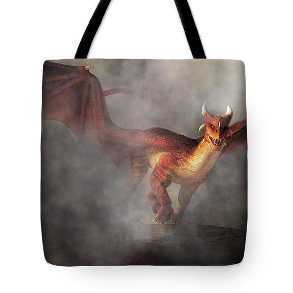 Tote Bag featuring the digital art Draco by Daniel Eskridge