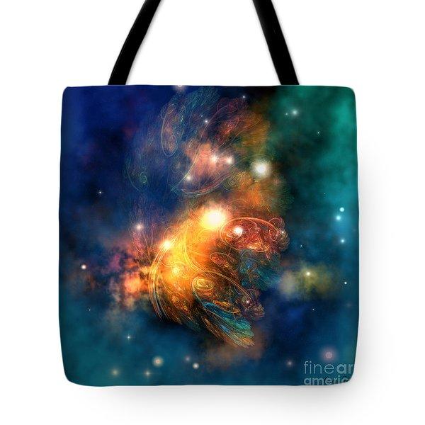 Draconian Nebula Tote Bag by Corey Ford