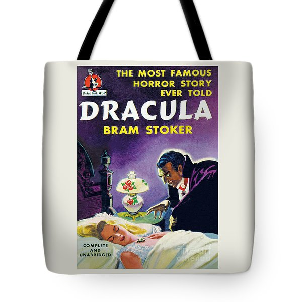 Tote Bag featuring the painting Dracula by Unknown Artist