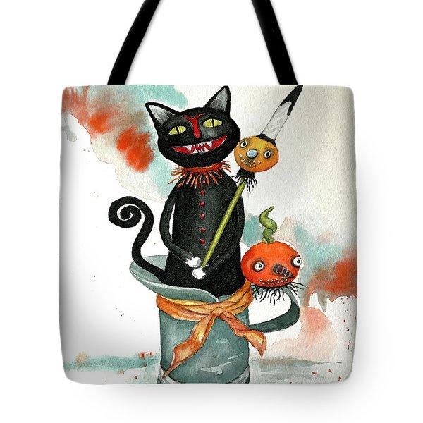 Dracula Vintage Cat Tote Bag