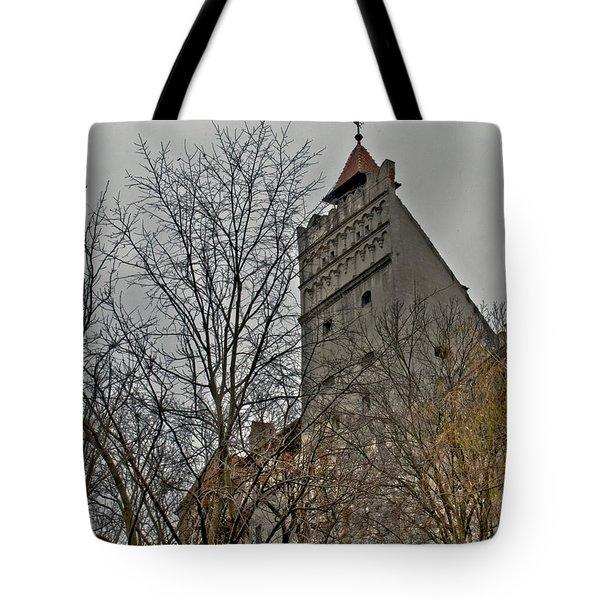 Dracula's Castle Transilvania In Hdr Tote Bag