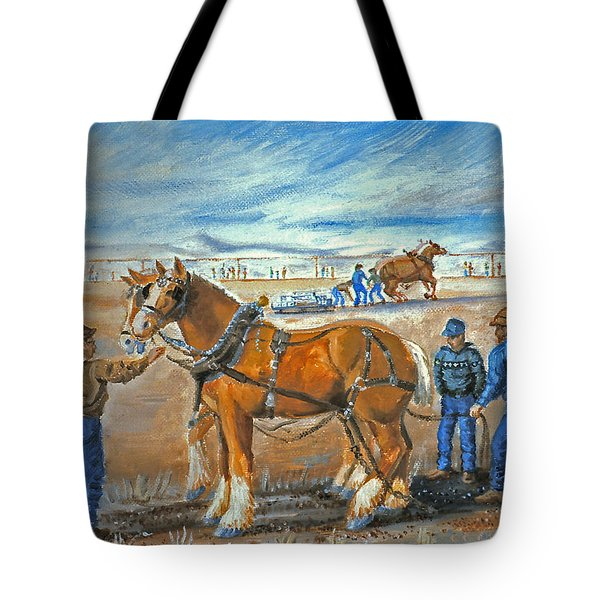 Draft Horse Pull Tote Bag by Dawn Senior-Trask