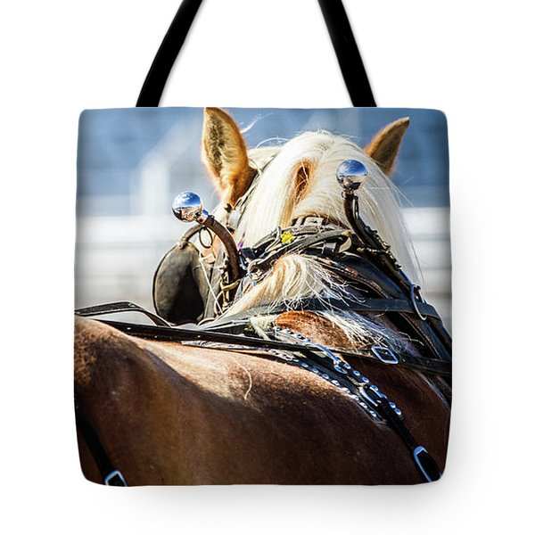 Draft Horses Ready Tote Bag