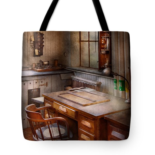 Drafting - Where Ideas Come From  Tote Bag by Mike Savad